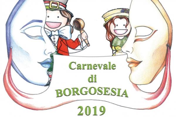 Depliant Carnevale di Borgosesia edizione 2019